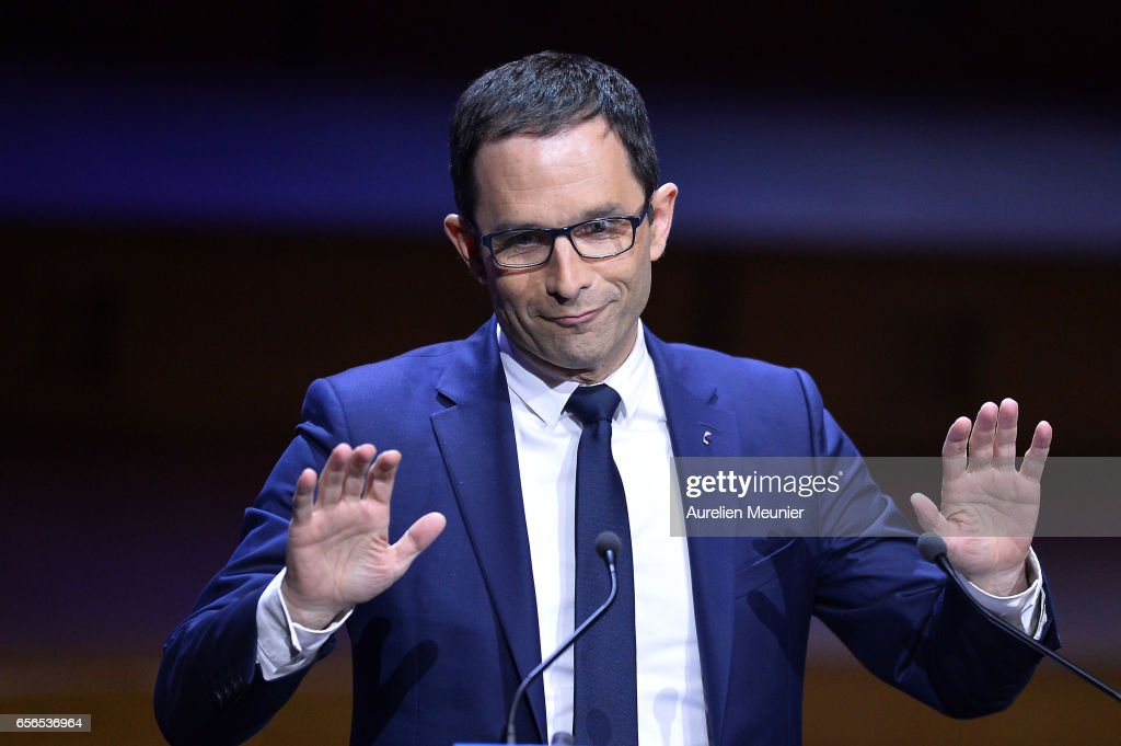 French Presidential Candidates Meet  France Mayors At Maison De La Radio In Paris