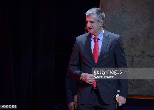 French Presidential Candidate Jean Lassalle arrives for a conference at Maison de la Radio on March 22 2017 in Paris France The Presidential Election...