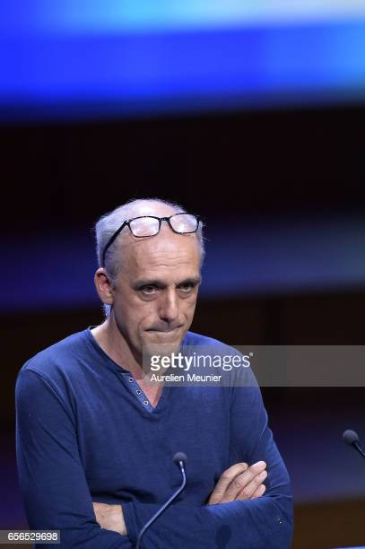 French Presidential Candidate Philippe Poutou addresses mayors during a conference at Maison de la Radio on March 22 2017 in Paris France The...
