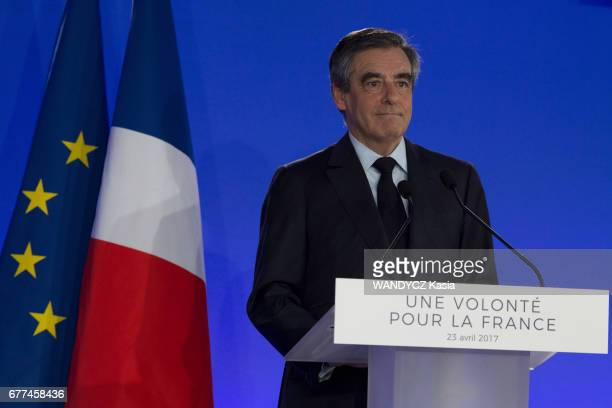 French Presidential election 2017 Francois Fillon beaten in the first round his speech at his HQ in Paris on April 23 2017