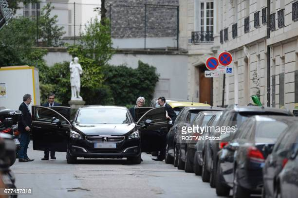 French Presidential election 2017 François Fillon beaten in the first round leaves his home in Paris with his wife Penelope in Paris on April 24 2017