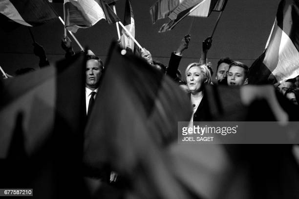 French presidential election candidate for the farright Front National party Marine Le Pen and Former French presidential election candidate for the...