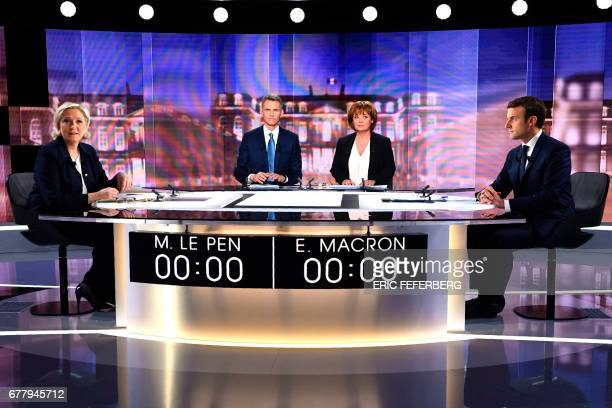 French presidential election candidate for the farright Front National party Marine Le Pen French journalist Christophe Jakubyszyn French journalist...