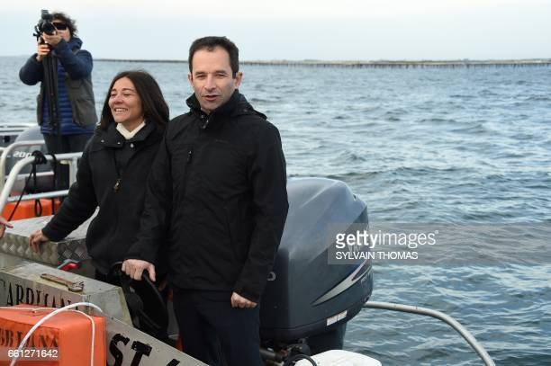 French presidential election candidate for the leftwing French Socialist party Benoit Hamon and local departmental councillor in charge of fishing...