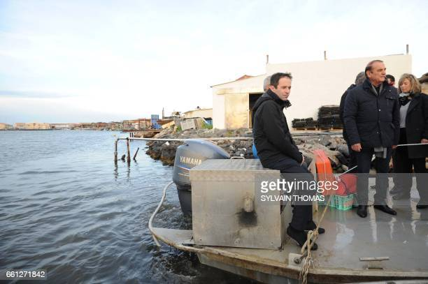 French presidential election candidate for the leftwing French Socialist party Benoit Hamon President of the Herault Departmental Council Kleber...