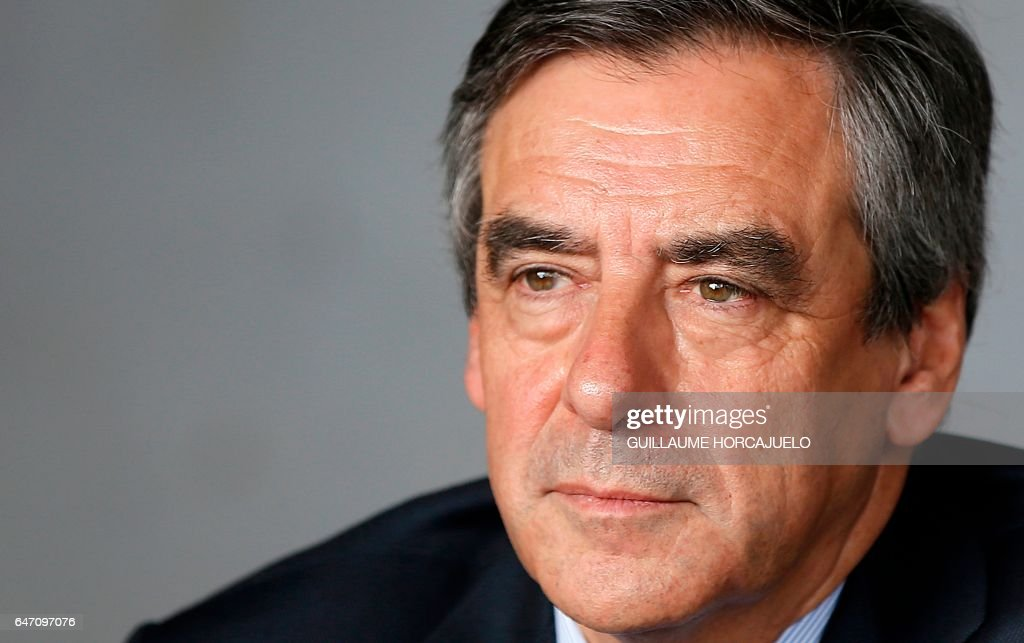 French Candidate For the right-wing 'Les Republicains' Party Francois Fillon On A One Day Visit In Nimes