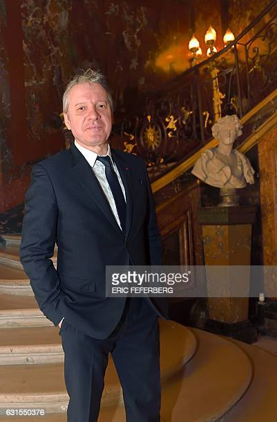 French President's special advisor on sports and former judoka Thierry Rey poses before a meeting with French Prime Minister on January 12 2017 in...