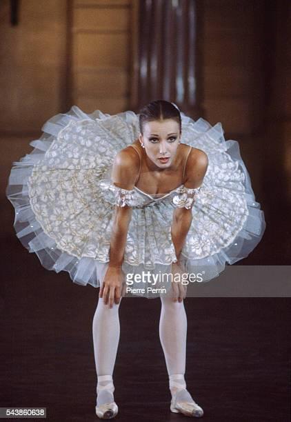 French prima ballerina Sylvie Guillem at the Paris Opera