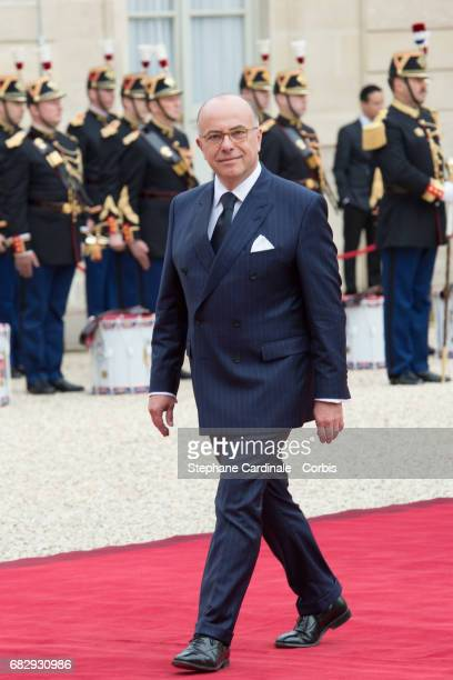 French Prime Minister Bernard Cazeneuve arrives at the Elysee Palace prior to the handover ceremony for New French President Emmanuel Macron at...