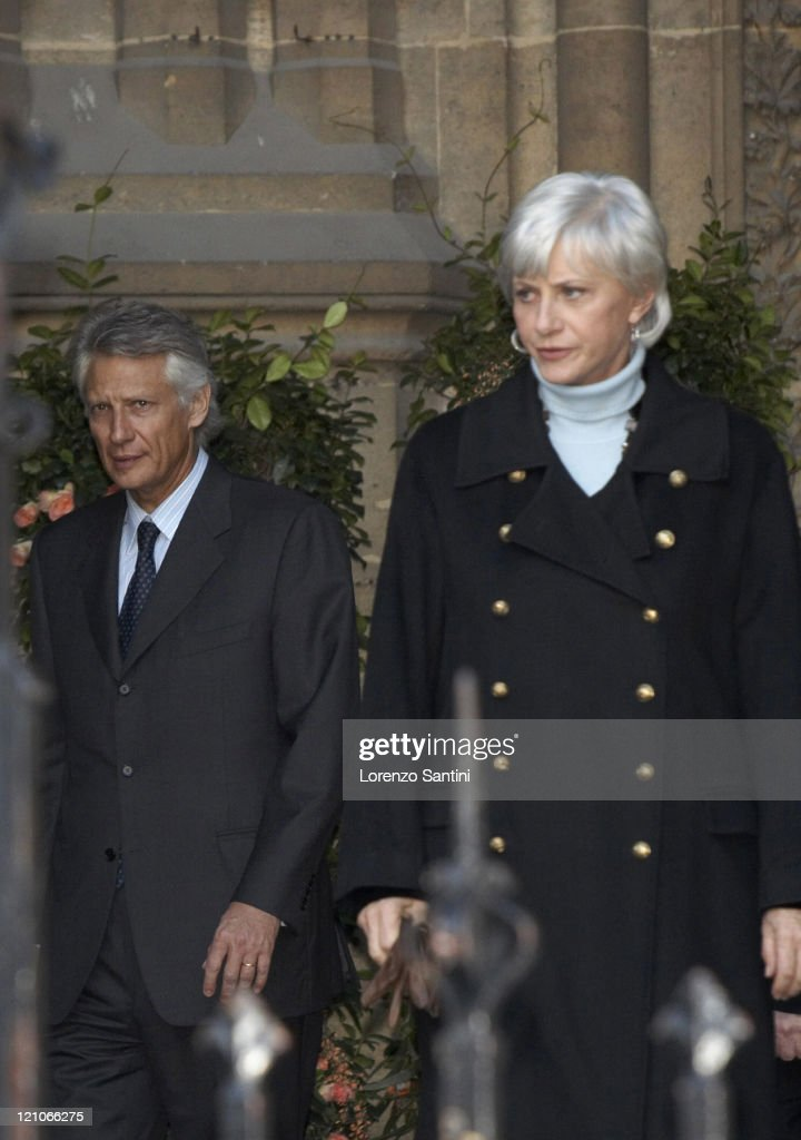 French Prime Minister Dominique De Villepin and Francoise De Panafieu