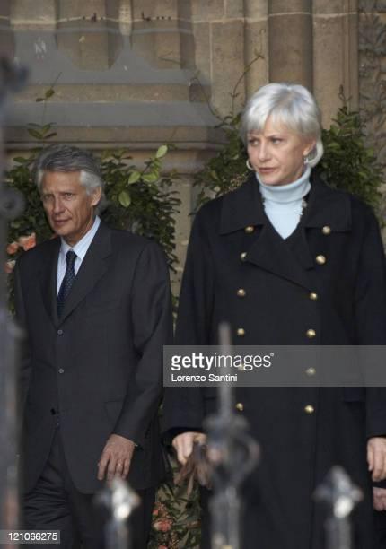 French Prime Minister Dominique De Villepin and Francoise De Panafieu