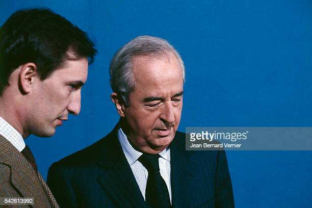 French Prime Minister Edouard Balladur with his chief of staff Nicolas Bazire