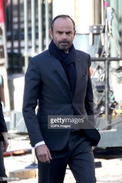 French Prime Minister Edouard Philippe during Johnny Hallydays funerals at Eglise de la Madeleine