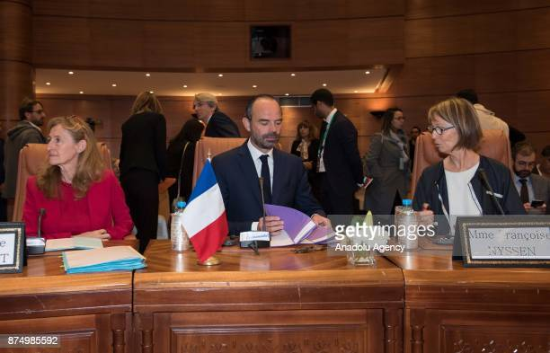 French Prime Minister Edouard Philippe French Justice Minister Nicole Belloubet and French Minister of Culture Francoise Nyssen attend the 13th...