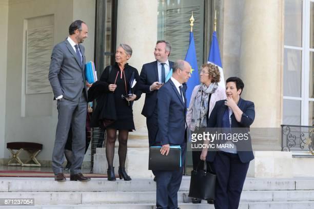 French Prime Minister Edouard Philippe French Transports Minister Elisabeth Borne French Junior Foreign Affairs Minister JeanBaptiste Lemoyne French...