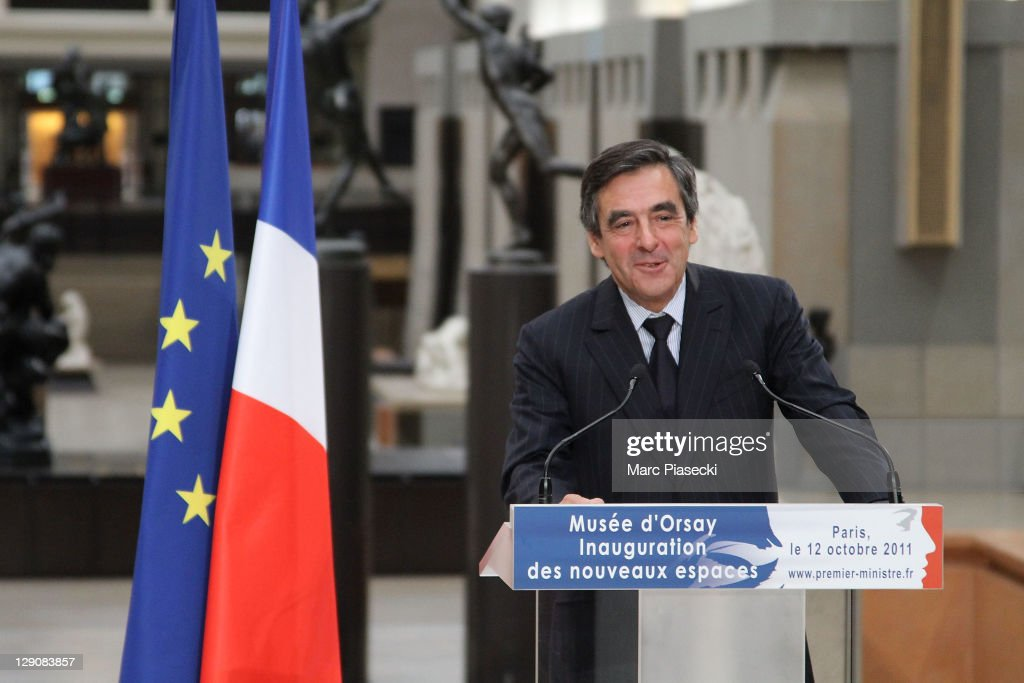 French Prime Minister Francois Fillion attends the official inauguration of renovated rooms at Musee d'Orsay on October 12, 2011 in Paris, France.