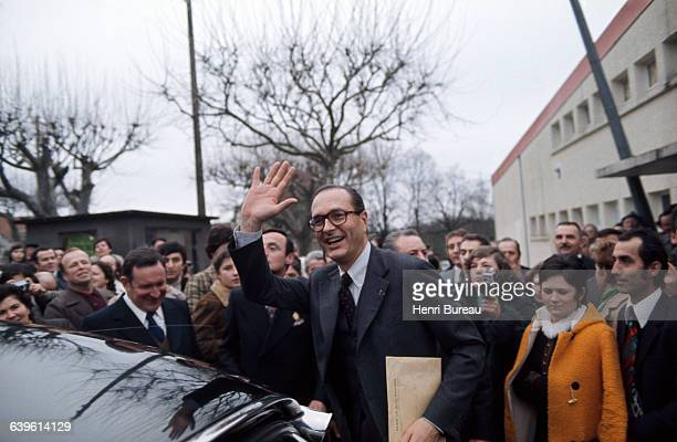 French Prime Minister Jacques Chirac in Correze