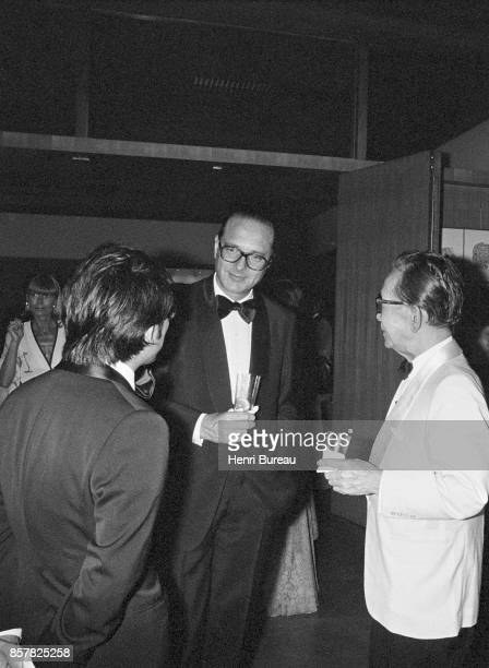 French Prime Minister Jacques Chirac talking with the Japanese prime minister Takeo Miki during a reception at Tokyo's french embassy Japan 1st...