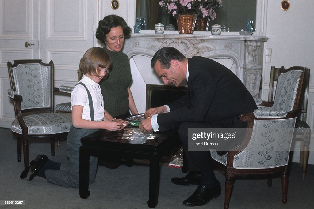 French Prime Minister Jacques Chirac with his wife Bernadette and their daughter Claude