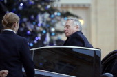 French Prime Minister JeanMarc Ayrault arrives at the Elysee Presidential Palace in Paris on January 14 for a meeting with French President focused...