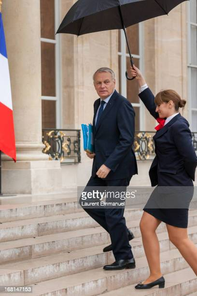 French Prime Minister JeanMarc Ayrault arrives for a work meeting of government ministers presided by French President Francois Hollande at Elysee...