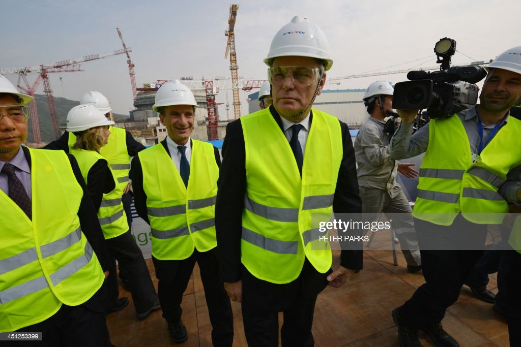 French Prime Minister JeanMarc Ayrault visits the joint SinoFrench Taishan Nuclear Power Station outside Taishan City in Guandong province on...