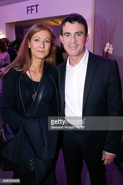 French Prime Minister Manuel Valls and his wife violonist Anne Gravoin attend the Final match during day 7 of the BNP Paribas Masters Held at Palais...