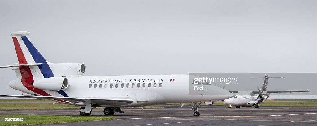 French Prime Minister Manuel Valls arrives at Auckland Airport on May 1, 2016 in Auckland, New Zealand. It is the first time in 25 years that a French Prime Minister has visited New Zealand.