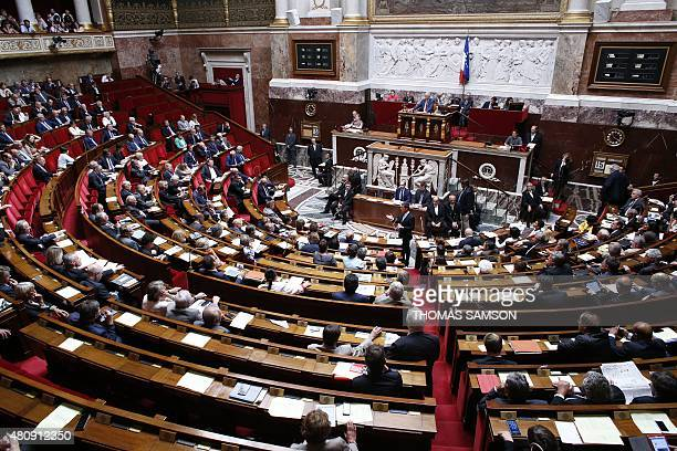 French Prime Minister Manuel Valls attends a session of Questions to the government on July 15 2015 at the National Assembly in Paris AFP PHOTO /...