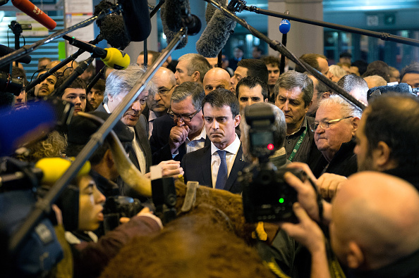 Manuel valls stock fotos und bilder getty images for Porte h salon de l agriculture