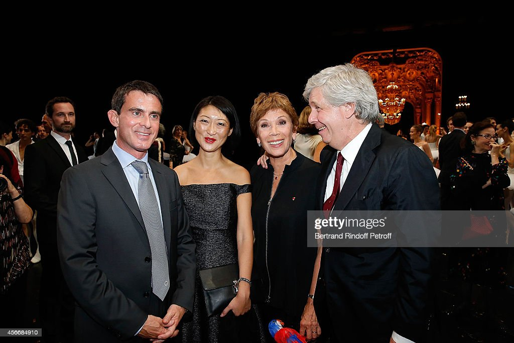French Prime Minister <a gi-track='captionPersonalityLinkClicked' href=/galleries/search?phrase=Manuel+Valls&family=editorial&specificpeople=2178864 ng-click='$event.stopPropagation()'>Manuel Valls</a>, French Minister of Culture <a gi-track='captionPersonalityLinkClicked' href=/galleries/search?phrase=Fleur+Pellerin&family=editorial&specificpeople=8784076 ng-click='$event.stopPropagation()'>Fleur Pellerin</a>, Paris Opera dance director Brigitte Lefevre and Stephane Lissner attend for the tribute to Brigitte Lefevre on October 4, 2014 in Paris, France.