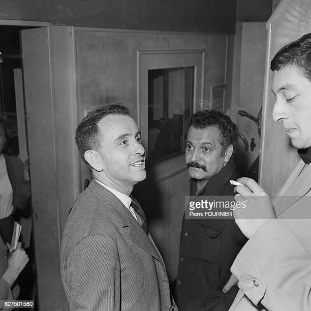 French producer and artistic agent Jacques Canetti with singers and songwriters Georges Brassens and Serge Gainsbourg