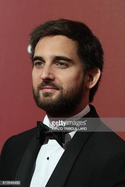 French producer Dimitri Rassam poses as he arrives for the 41st edition of the Cesar Ceremony at the Theatre du Chatelet in Paris on February 26 2016...
