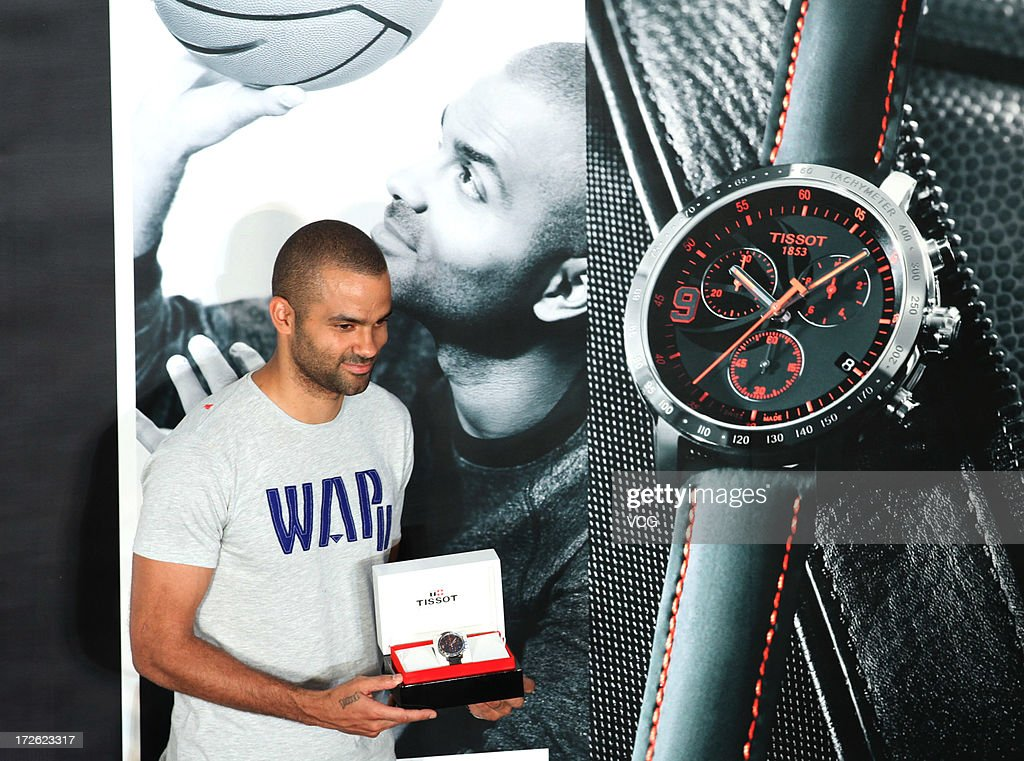 French professional basketball player Tony Parker of the San Antonio Spurs attends commercial event on July 3, 2013 in Beijing, China.