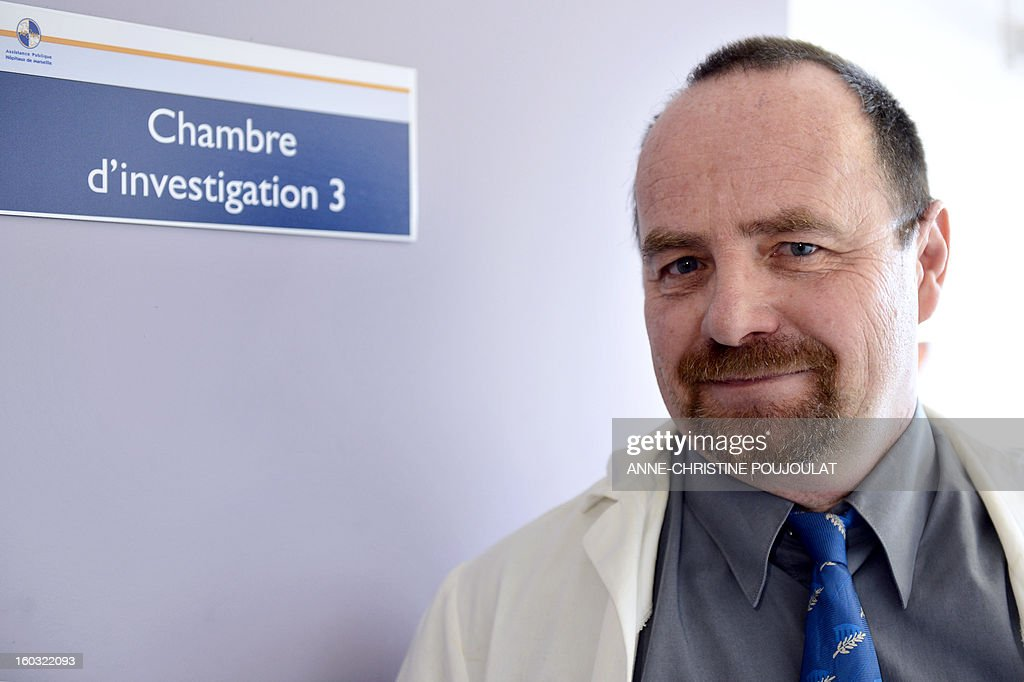 French professor Erwann Loret poses, on January 29, 2013 in his laboratory in Marseille, southern France. Clinical trials of a vaccine against the AIDS virus (HIV-1) will begin in February in Marseille with fifty infected volunteers, announced today the Public Assistance Hospitals of Marseille (AP-HM).