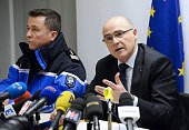 French prosecutor of Marseille Brice Robin speaks to the press on March 26 2015 in Marignane airport near the French southern city of Marseille The...