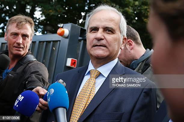 French prosecutor Vincent Lesclous speaks to the press after the police arrested a man who opened fire on shoppers injuring two people before fleeing...