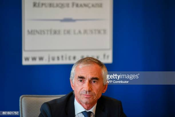 French prosecutor Xavier Tarabeux speaks during a press conference on the Levothyrox a thyroid medication on September 22 2017 in Marseille southern...