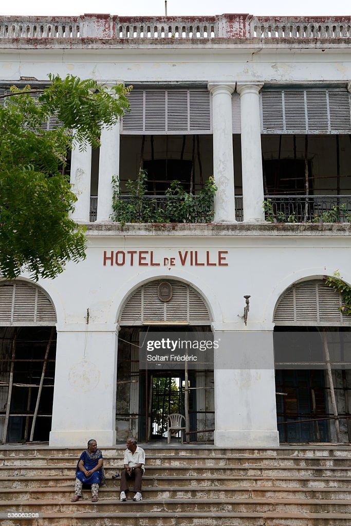 French Quarter Of Pondicherry Stock Photo
