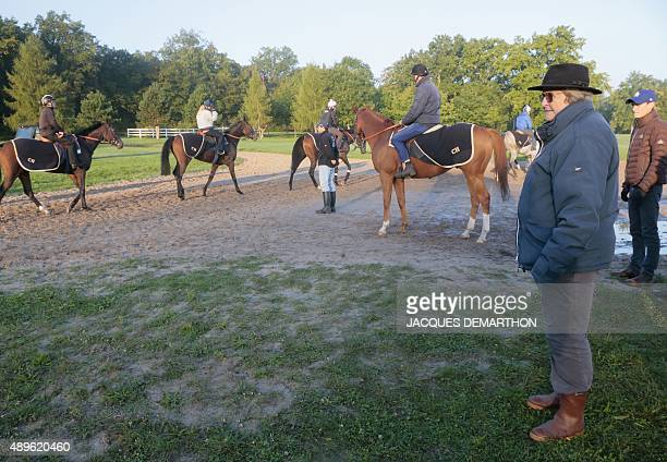 French racehorse trainer Christiane HeadMaarek is pictured in Gouvieux north of Paris on September 23 2015 HeadMaarek is hoping to win the 94th Qatar...