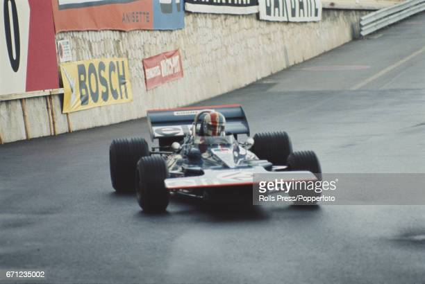 French racing driver Francois Cevert drives the Tyrrell 002 Ford V8 for Elf Team Tyrrell in the 1971 Monaco Grand Prix in Monte Carlo on 23rd May 1971