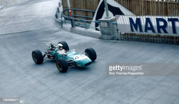 French racing driver Francois Libert drives the TecnoFord to finish in 36th place in the 11th Grand Prix de Monte Carlo Formula 3 race in Monte Carlo...