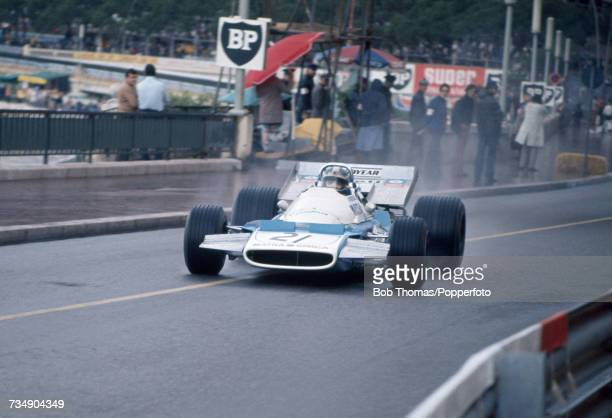 French racing driver JeanPierre Beltoise drives the Equipe Matra Sports MatraSimca MS120B Matra V12 in the 1971 Monaco Grand Prix at the Circuit de...