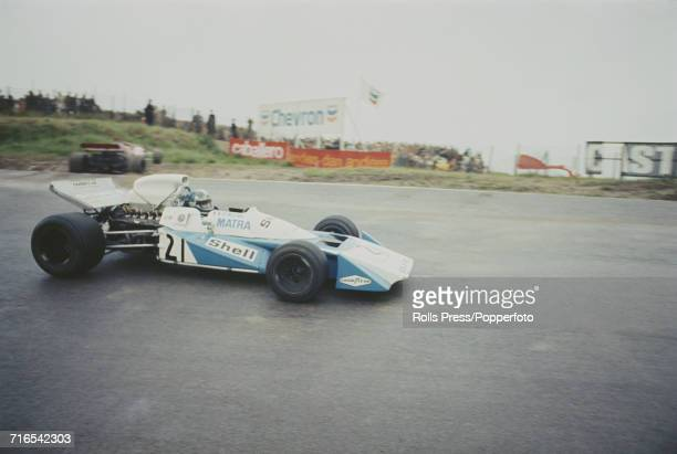 French racing driver JeanPierre Beltoise drives the MatraSimca MS120B Matra V12 for Equipe Matra Sports Team to finish in 9th place in the 1971 Dutch...
