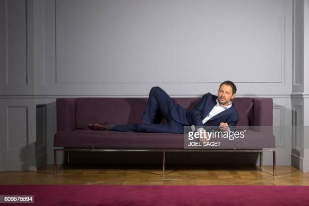 French radio and television host MarcOlivier Fogiel poses in Paris on September 16 2016 / AFP / JOEL SAGET