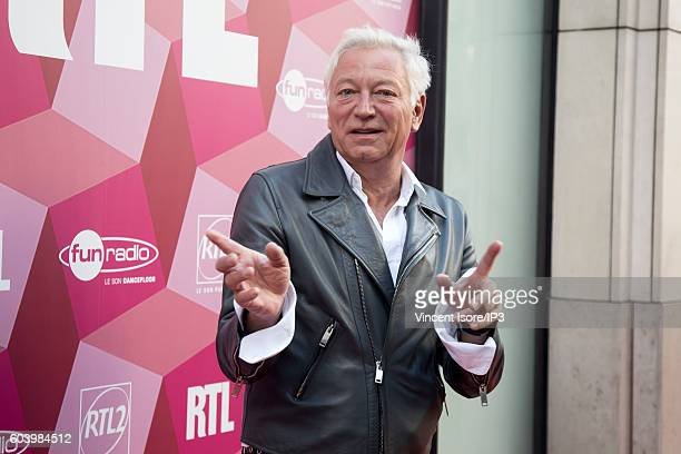 French radio and tv host Laurent Boyer attends a press conference of RTL radio which announces its 2016/2017 schedule on September 7 2016 in Paris...