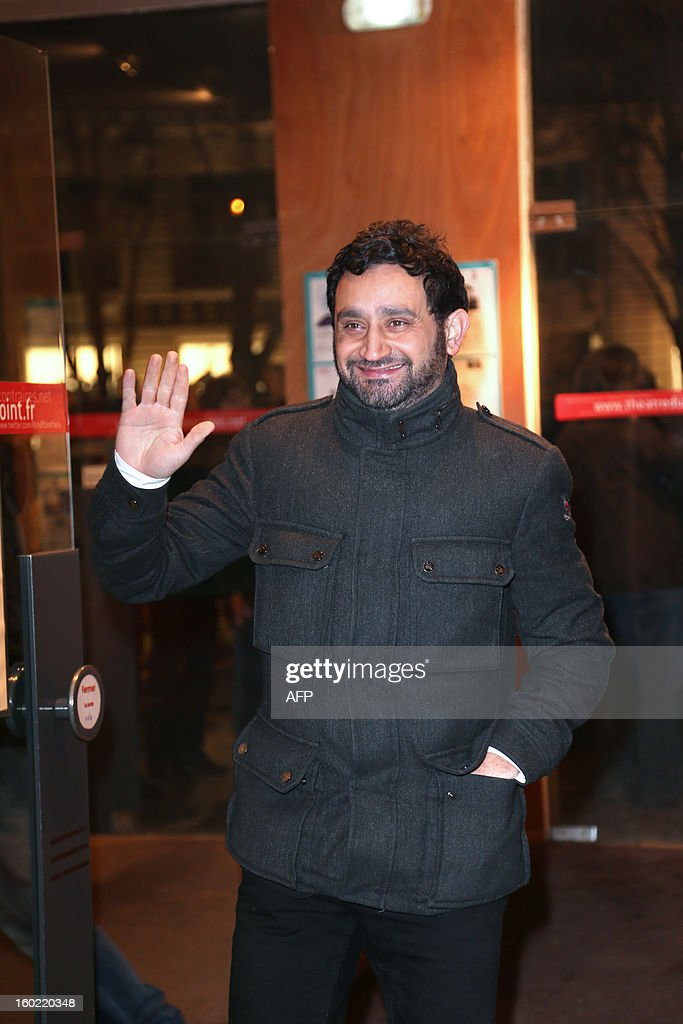 French Radio host Cyril Hanouna arrives for a special event gathering artists and celebrities in support of French government plans to legalise gay marriage and same-sex adoption on January 27, 2013 in Paris, two days before parliament takes up the text, which has been met with strong opposition from the right and the Catholic Church.