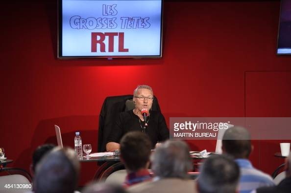 french radio host laurent ruquier attends rtl radio programme 39 les grosses tetes 39 on august 25. Black Bedroom Furniture Sets. Home Design Ideas