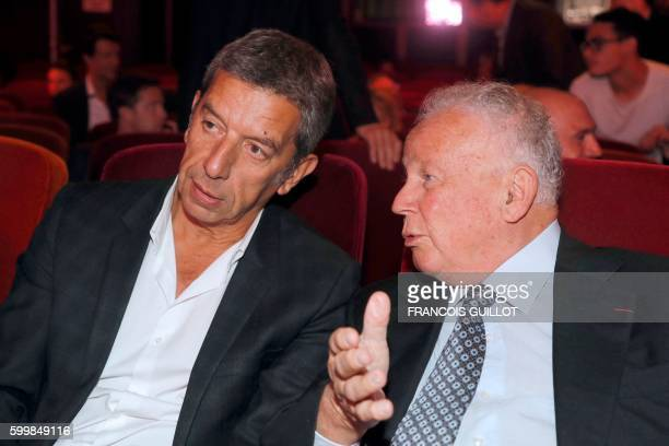French Radio show hosts Michel Cymes and Philippe Bouvard attend a press conference marking the start of the new season of RTL's group news talk and...