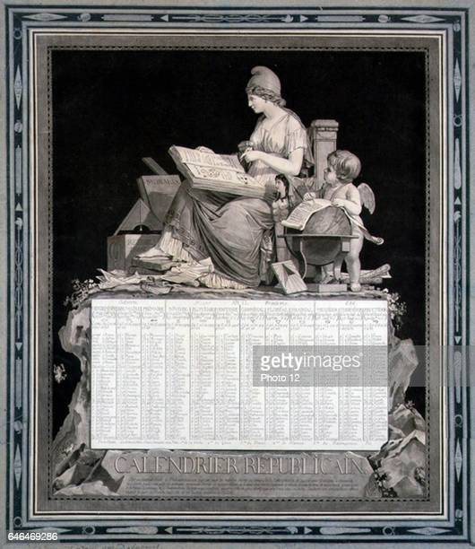 French Republican Calendar for 1794 Napoleon abolished this calendar the l January 1806 designed by Louis Philibert Bebucourt